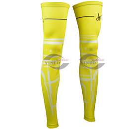 2015 TOUR DE FRANCE YELLOW CYCLING LEG WARMER SPANDEX COOLMAX LYCRA UV PROTECTION SIZE:S-3XL