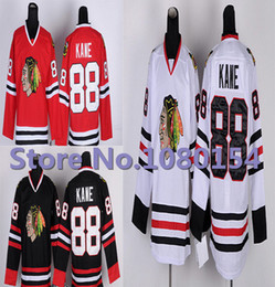 Factory Outlet, Wholesale Youth Chicago Blackhawks Hockey Jerseys Childrens 88 Patrick Kane Jersey White Black Red Sports Clothes All Embroi
