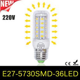 2017 e27 ce smd Lampes 8Pcs complet Nouvelle Année haute luminosité LED E27 / E14 / GU10 / G9 SMD 5730 Ampoule de maïs LED 36LEDs 220V / 110V RoHS lumière 12W Energy Saving Chandelier CE e27 ce smd offres