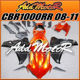 Wholesale Addmotor Injection Mold Aftermarket Fairings Fit Honda CBR1000RR CBR RR Body Kit Orange Black H1835 Five Free Gifts