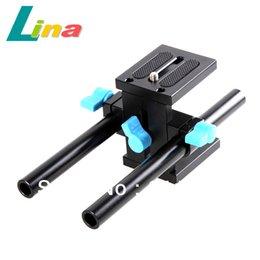 Plates-formes de caméra pour dslr à vendre-15mm en alliage d'aluminium Camera Rod support Rail Rig Support System pour DSLR Canon Nikon Shiping gratuit
