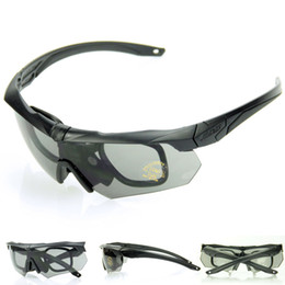 Wholesale Hot TR90 Material Frame Revo Fire Iridium ESS Crossbow Sports Tactical Army Bullet proof Goggles Cycling Sunglasses Eyewear