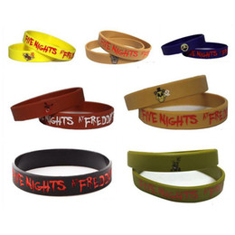 Prettybaby 7pcs five nights at freddy's silicone bracelet wrist straps FNAF figure kid toys For Halloween Christmas Pt0230# DHL FREESHIP