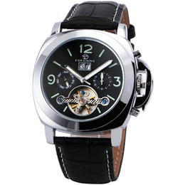 Wholesale FORSINING Luxury Analog Watch Men s Day Week Month Flywheel Auto Mechanical Wristwatches Valentine s Day Gifts Limited Edition