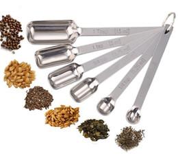 Narrow Stainless Steel Measuring Spoon Tool Set Narrow Spices Stainless Steel Deep Bake Kitchen Measuring Deep Spoon Tools