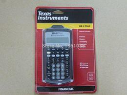 Wholesale Brand New Texas instruments BA II Plus Financial Calculator cfp frm soa rfp calculator office graphic calculator scientific good gift