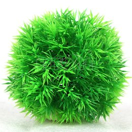Free shipping Artificial Aquatic Plastic Plants Aquarium Grass Ball Fish Tank Ornament Decor
