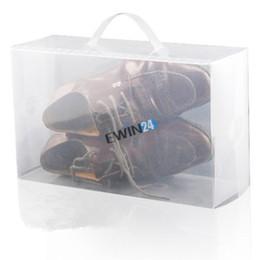 Wholesale 5PCS New Clear Plastic Men s Women s Shoe Storage Boxes Containers Trainers Size