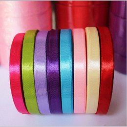 New Elegant Colorful Satin Ribbon Wedding Party Craft Sewing Decorations Hair Accessories Cloth Tape DIY