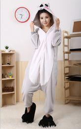 Wholesale 2015 Cosplay Winter Koala Kigurumi Pajama Flannel Pajamas Hooded Conjoined Sleepwear Costumes Adult Unisex Onesie Soft Sleepwear