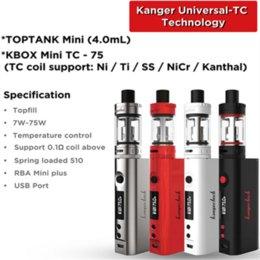 100% Original kangertech topbox mini starter kit 75w box mod VS topbox Nano Starter Kit with TC Upgraded topbox mini starter kit