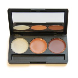 hot style 3 colors concealer palette professional Cream foundation cosmetic with mirror face cream makeup brand new