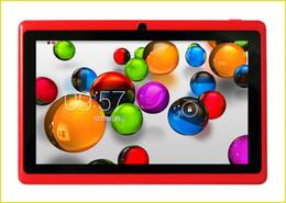 Acheter en ligne Dual core tablet pc-7 pouces A33 Quad Core Q88 tablette PC Allwinner Android 4.4 KitKat capacitif 1.5GHz DDR3 512 Mo RAM 4 Go ROM double caméra lampe de poche A23 MQ100