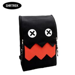 Hot Sale Funny Cartoon Big Teeth Shoulder Bag School Bag For Teenager Canvas Printing Backpacks , Laptop Bag Mochila Rucksack