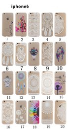 Wholesale Henna White Floral Paisley Flower Mandala Elephant Dream Catcher PC Back phone Case Cover For iPhone S S C Plus iPhone6
