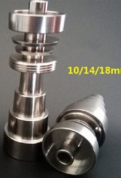 Wholesale Domeless Titanium Nail fits to mm mm mm GR2 Pure Titanium Nail In for Water Pipe Glass Bong Smoking