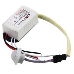 Wholesale 2015 New W V IR Infrared Module Body Sensor Intelligent Light Motion Sensing Switch YKS
