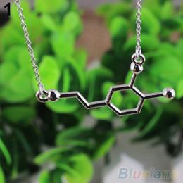 Wholesale DNA Necklace Serotonin Dopamine Acetylcholine Biochemistry Molecule Catop OK