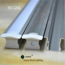 Free shipping 10pcs lot 2m led aluminium profile,LED bar light channel for 12mm PCB board led bar light,YD-1201