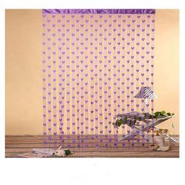 Wholesale Romantic heart shaped cortina windows blinds sheer curtain curtains for living room door cortinas para sala