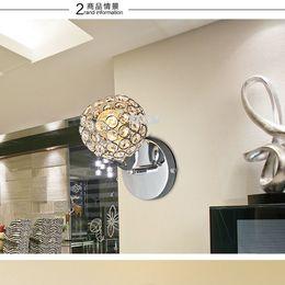 Wholesale Modern K9 Crystal Wall Lamp Sconce Bedroom Stairs Aisle Adjustable Lampshade Decor Lamparas Luminaria E14 V