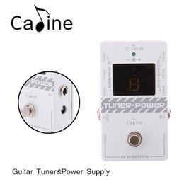 Wholesale 2 in Guitar Tuner Power Supply for DC V Electric Guitar Effect Pedal Ture Bypass Design Multifunctional Caline CP I471