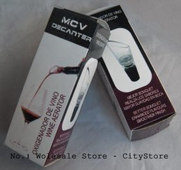 Wholesale MCV Wine Aerator Wine Decanter Pour Spout Bottle Stopper Decanter Pourer Aerating Retail box package