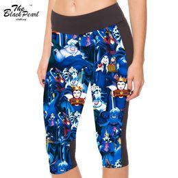 Wholesale Women s point pants women leggings Queen poison apple animation cartoon digital print women high waist Side pocket phone
