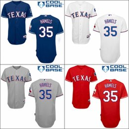 Wholesale Texas Rangers Cole Hamels Blue White Red GRAY Home Road Wholesales Cheap American baseball jerseys Embroidery Logo Mix Order