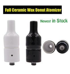 Wholesale Wax Ceramic Donut Atomizer wickless Ceramic Heating Element Vaporizer without coil Generation Newest Atomizer for Box Mod DHL Free