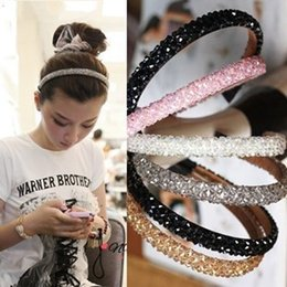 Wholesale Four row Shiny crystal beads Headbands hair clip charm beaded bands fashion hair accessories statement jewelry for women girls