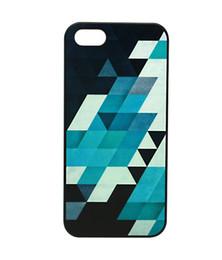 Wholesale Beautiful Black White Skew Lattice Hard Plastic Mobile Phone Case Cover For iPhone 4 4S 5 5S