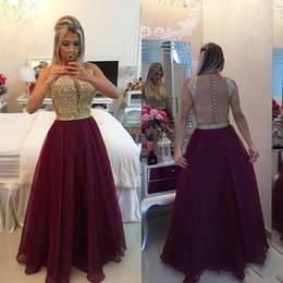 Sheer Burgundy Prom Dresses 2015 Sexy Dresses Party Evening Gowns Backless Wedding Party Dresses Beaded Appliques Sheer Formal Gowns