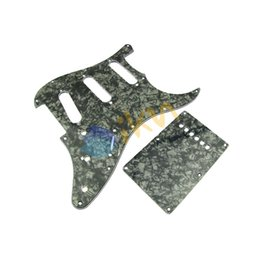 Wholesale 1set Black Pearl Pickguard SSS Back Plate for ST Style Guitar PLY