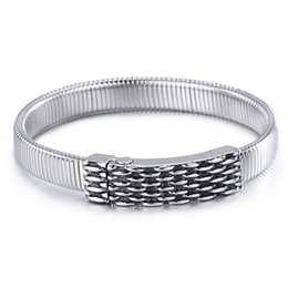 Wholesale Fashion L Stainless Steel Flexible Net Watch Band Bracelets for Men and Women SB01746