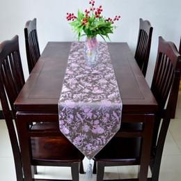 High End Modern Luxury Wedding Decoration Table Runners Damask Silk Flower Bird Tea Table Cloth bed Runner L200* 33cm Multicolor