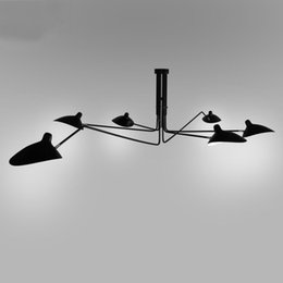Wholesale Retro industrial loft Nordic Iron rotatable Ceiling light living room creative artistic personality Duckbill lampshade spider Ceiling lamp