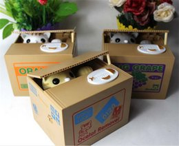 Wholesale Itazura Automated Stealing Money Cat Penny Coin Bank Saving Box Child christmas Gift for myeshop