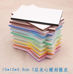 Wholesale scrapbooking vintage decor stamps color three layer sandwich carved rubber tiles decoration standard stamp