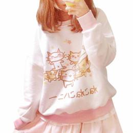 2016 Spring Autumn Women Hoodies Sweatshirts Cartoon Cat Printed Shirts Cute Harajuku Sweatshirt Soft Casual Hoodie Sister Tops