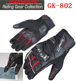 2015 New KOMINE GK-802 PROTECT W-GLOVES-HANNIBAL Full Finger motorbike motorcycle gloves Moto racing gloves of leather carbon fiber