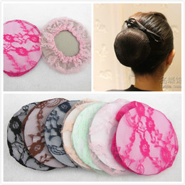200 Pcs 7 Mixed Color Women Ballet Dance Skating Lace Bun Cover Elastic Band Hair Net Fashion Hair Accssories Hiar For Women Girl