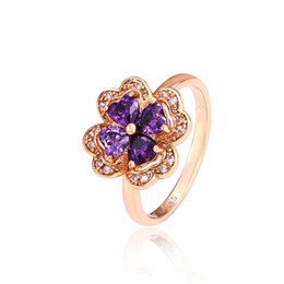 Wholesale Fashion Flower Shape Cluster Ring Women k Gold Plated Copper Ring Xuping Brand Environmental Copper Jewelry Ring