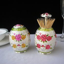 Wholesale artistic automatic metal toothpick holder box for tableware decoration multicolors