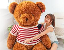 Livraison gratuite taille: 14 pouces (35cm) ours en peluche farcis brun clair gigantesque jumbo armes jouets en peluche jouets en peluche cadeau d'anniversaire de poupée à partir de géant ours brun stuff toy fabricateur