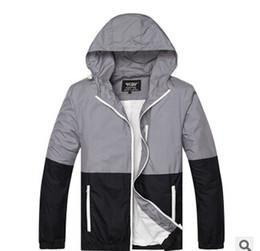 Men New thin Splice Camouflage Fashion Trend Hoodies Outdoor Sport Skateboard Jackets Hip Hop Coat men women hooded windbreaker