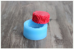 R0140 Food-grade materials, DIY Silicone mold Soap mold Rose border Cake decorating Fondant Chocolate molds Free shipping
