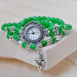 Gros-2015 Bracelet Grenat Pendentif Tendance Quartz Ladies Watch électronique Montre Femme Relogio Feminino Horloge Vêtements Suivre à partir de montre grenat fabricateur