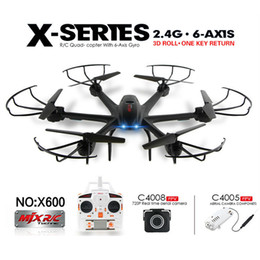 Wholesale Drone with Wifi FPV HD Camera MJX X600 X SERIES G Axis RC Remote Control Hexacopter Quadcopter UFO Can choose C4005 or C4008