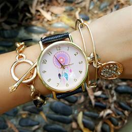 Dreamcatcher Women Quartz Watches Geneva Relogio Feminino Leather Strap Wristwatch 2016 New Casual Watch Dress Watch Clock